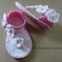Discover thousands of images about Repeat After me Crochet: DIY Sweet Crochet Baby Summer Bootie by Nina Maltese Crochet Baby Boots, Crochet Baby Sandals, Booties Crochet, Baby Girl Crochet, Crochet Shoes, Love Crochet, Crochet For Kids, Baby Booties, Crochet Designs