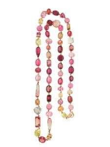 Mixed Shape Mixed Color Tourmaline Necklace