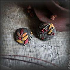 Вкус октября. Комплект брошей - коричневый,желтый,краски осени,Рябина