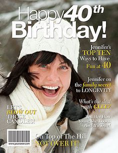 Unique 40th Birthday Gifts - Personalized Fake Magazine Covers from YourCover