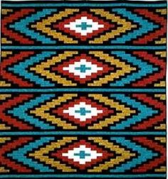 Spanish Textile pattern from SW Decoratives. Boy Quilts, Star Quilts, Scrappy Quilts, Loom Patterns, Quilt Patterns, Southwestern Quilts, Seminole Patchwork, Tapestry Crochet, Bargello
