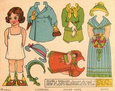 Lots and LOTS of vintage printables!  Including paper dolls!  Loved playing with these as a tiny girl.