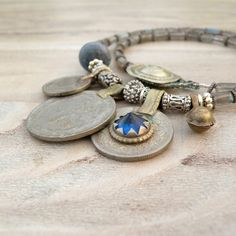 Nomadic Talisman Necklace  Tribal Gypsy Coin by GypsyIntent, $48.00
