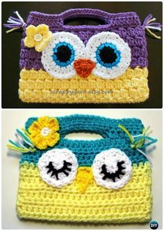 Crochet Owl Handbag Free Pattern- #Crochet Owl Ideas Free Patterns