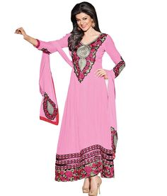 Loved it: Ajay And Vijay Pink Pure Georgette Semi Stitched Embroidered Salwar Suit, http://www.snapdeal.com/product/ajay-and-vijay-pink-pure/617654469