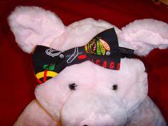 Chicago Blackhawks fabric bowtie