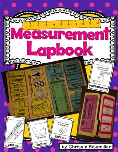 Measurement Lapbook Interactive Kit: Customary & Metric from Chrissie Rissmiller on TeachersNotebook.com -  (31 pages)  - Printables for making a measurement lapbook with your students. Includes visuals for each unit of measurement.