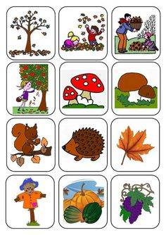 memory cards for fall Autumn Activities For Kids, Fall Preschool, Diy Crafts For Kids, Preschool Activities, Autumn Crafts, Nature Crafts, Fall Projects, Autumn Theme, Pre School
