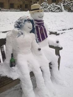 """Snow ☃ Man & Snow ☃ Women """"No, really, they're frozen solid."""""""