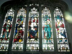 Lincolnshire, Harlaxton    		c1892 Nativity window to Catherine wife of John Sherwin Gregory