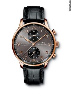 IWC Portuguese Chronograph  IW371482  41mm rose gold case  Strap: Black Crocodile Leather Strap   Retail Price: $16,400.00  Our price: $12900  Call or email for more information.  We can ship the watch world wide.   sales@goldajewelry.com  212 730 50 54  www.goldajewelry.com