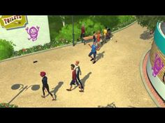 Security Guard Tackling Vandlism - Planet Coaster Preview - YouTube  #Gaming #VideoGames #ThemePark