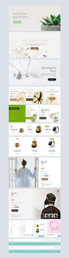 Free PSD Web UI Kit by T4U Digital Agency