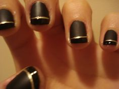 procrastination..matte nails with shiny tips nails