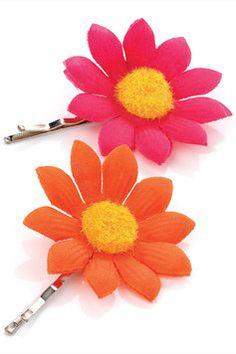 Leroy Two Piece Flower Hair Grip Set