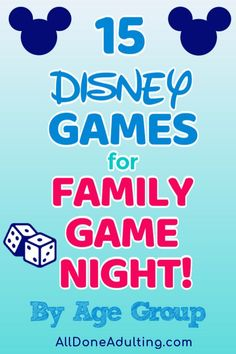 Disney themed games for every age! Check out this list of Disney games to play with your family. I've found games for ages 3 through adult. Put a little Disney in your family's game night with one of these fun games. Disney Themed Games, Disney Games For Kids, Disney Fun, Fun Board Games, Fun Games, Party Games, Disney Planning, Disney Tips, Disney Home