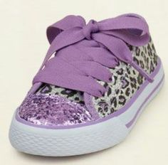 Purple leapord sneakers