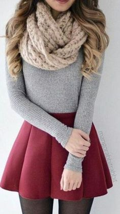outfit ideas for winter - outfit ideas . outfit ideas for women . outfit ideas for winter . outfit ideas for school . outfit ideas for women over 40 . Cute Skirt Outfits, Girly Outfits, Cute Casual Outfits, Outfits For Teens, Dress Outfits, Winter Skirt Outfit, Skater Skirt Winter, Dresses In Winter, Winter Outfits With Skirts