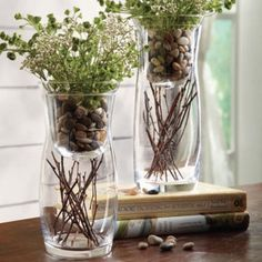 """On A Clear Day Creativity Glass Votive Holders Large     Two glasses cluster in a striking modern display. Glass is cupped to float a flickering votive (sold separately), but their uses are endless. 4""""dia. x 9-7/8""""h   Only $9.99!! http://paige.athome.com/"""