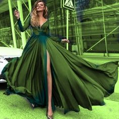 so fresh and green Olive Prom Dresses, Go Green, Green Colors, Glamour, Green Fashion, Beautiful Gowns, Shades Of Green, Dress Me Up, Favorite Color