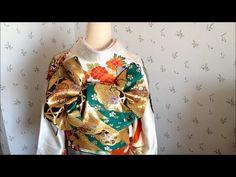 2016 振袖の帯結び Traditional Japanese KIMONO/辻が花 - YouTube Traditional Japanese Kimono, Yukata, Pattern Design, Blouse, Tops, Dresses, Youtube, Women, Accessories