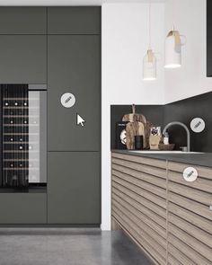 Luxury Kitchen Design, Kitchen Room Design, Kitchen Interior, Kitchen Furniture, Modern Home Bar Designs, Modern Home Offices, Interior Design Videos, Loft Kitchen, Pantry Design
