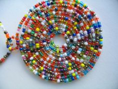 African Maasai Masai Bead Necklace with pendant Multi colored New - Necklaces & Pendants