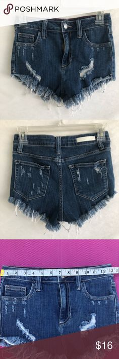 28f171a6f61 NWOT Cello Distressed High Waisted Denim Shorts -NWOT -Size  small-measurements in photos -99 1 cotton spandex fiber content -Bundle to  save   Cello Shorts ...