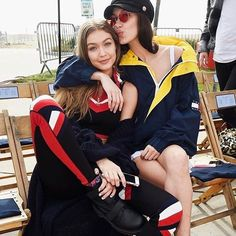 Sister act! @gigihadid and @bellahadid at tonight's #tommynow #tommyxgigi show in L.A.  Bravo @tommyhilfiger   via V MAGAZINE OFFICIAL INSTAGRAM - Celebrity  Fashion  Haute Couture  Advertising  Culture  Beauty  Editorial Photography  Magazine Covers  Supermodels  Runway Models