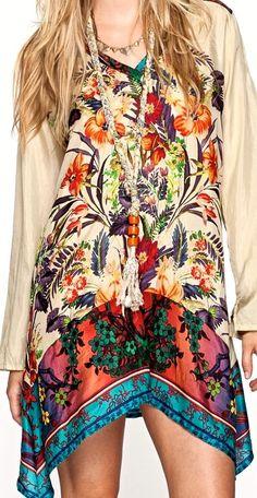 jwla COLORFUL SPRING TUNIC TOP /TUNIC DRESS