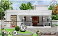 Kerala Style Small House Plans Photos with Contemporary Single Story Home Designs Having Single Floor, 3 Total Bedroom, 3 Total Bathroom, and Ground Floor Area is 1424 sq ft, Hence Total Area is 1598 sq ft Low Cost House Plans, Simple House Plans, Beautiful House Plans, Country House Plans, Modern House Plans, House Floor Plans, Bungalow House Design, House Front Design, Small House Design
