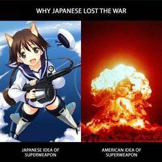 Why anime is more entertaining than a single nuke bomb #anime #memes #funny #manga