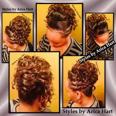 Updo black hairstyles / Transitioning to natural hair : photo on Instagram #transitioning #natural #hair #styles #updo