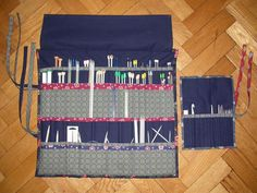 TUTORIAL: Alexandra's Needle case. Already DIY'd my knitting needle case but could try the crochet needle one.