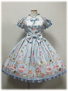 Tea Time dress: Angelic Pretty Wonder Party   #PinTeaTuesday