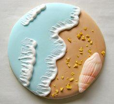 Lovely seashore cookies. #ocean #sea #food #cookies