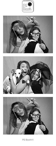 PG Booth DIY Photo Booth black and white photo strip with logo