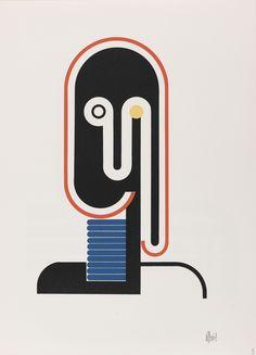 Walter Dexel's geometric portraits published as a single portfolio in 1968 by Editions Panderma Carl Laszlo Cover Design, E Design, Book Design, Graphic Design, Flat Design, Laszlo Moholy Nagy, Joseph Albers, Girls With Black Hair, Art Abstrait