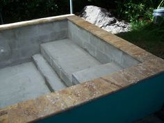 concrete block pool | Concrete Block Puppy Pool - in progress - many questions