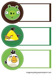 Etiquetas para cuadernos angry birds