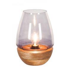 Tischleuchte Mourenx - Glas / Bambus - 1-flammig - 27