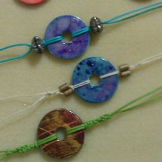 Hardware store washer bracelets Hemp, cotton cording and beads to finish it off.   Flickr - Photo Sharing!