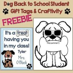 This freebie contains cute and colorful dog student gift tags to easily create a… Kindergarten Freebies, Kindergarten Classroom, Kindergarten Activities, Preschool Crafts, Kindergarten Graduation, Class Activities, Educational Activities, Teacher Treats, School Treats