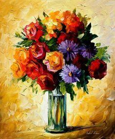 FLOWERS + LEONID AFREMOV by *Leonidafremov