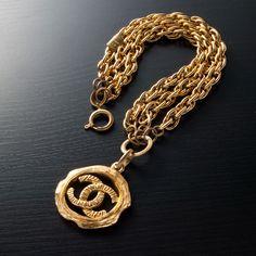 Chanel Chain Bracelet In Gold Tone