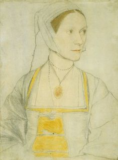 Cecily Heron, portrait study. Holbein, c. 1527.