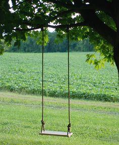 DIY Tree Swing @themerrythought
