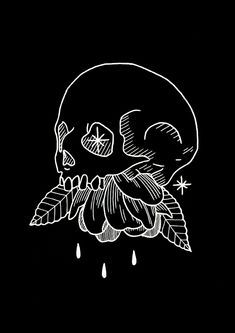 31 New Ideas Tattoo Animal Skull Skeletons Silkscreen, Image Deco, Desenho Tattoo, Animal Skulls, Animal Tattoos, Skull Art, Dark Art, Blackwork, Art Inspo