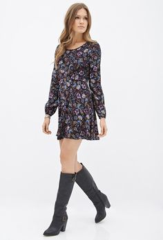 Floral Fit & Flare Dress | Forever 21 Canada