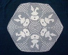 Ewa wysłał(a) Ci Pina na Pintereście. - WP Poczta Filet Crochet, Crochet Doily Diagram, Crochet Chart, Thread Crochet, Crochet Doilies, Easter Crochet Patterns, Doily Patterns, Cross Stitch Patterns, Crochet Rabbit
